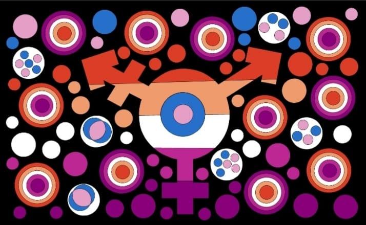 Trans lesbian flag