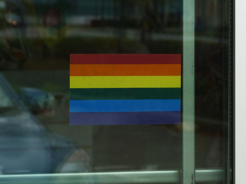 pride window cling decals