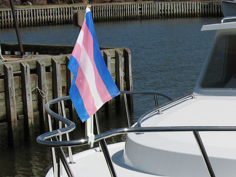 Transgender Boat Flags
