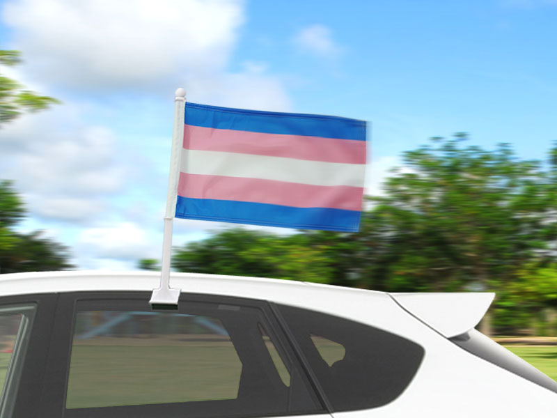Transgender Car Flags